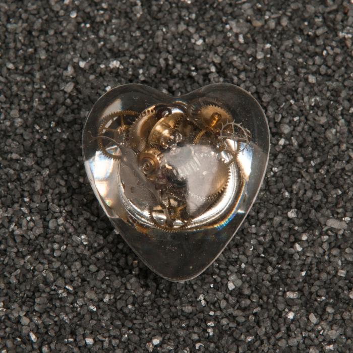 Steampunk Gears Heart Ring