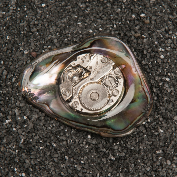 Paua Shell Watch Lapel Pin